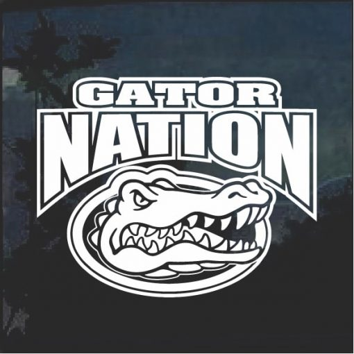 Florida Gators Gator Nation Window Decal Sticker