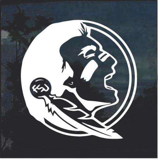 Florida State FSU Seminoles Indian decal sticker