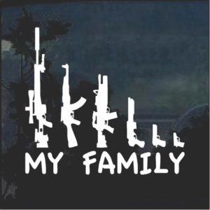 Gun Family Window Decal Sticker a2