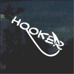 Hooker Funny Fishing Window Decal Sticker