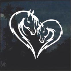 Horse Love Heart Head Window Decal Sticker