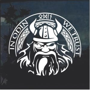 In Odin we trust thor viking Helmet Window Decal Sticker