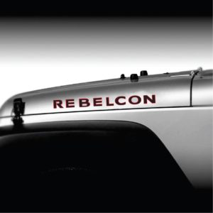 Jeep rebelcon 2 color hood decal sticker