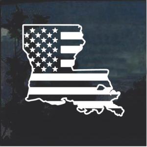 Louisiana American flag window sticker decal