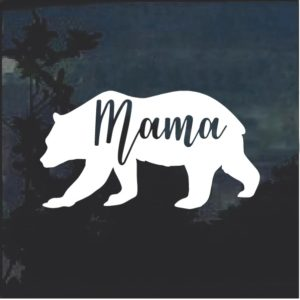 Mama Bear Car Window Decal Sticker