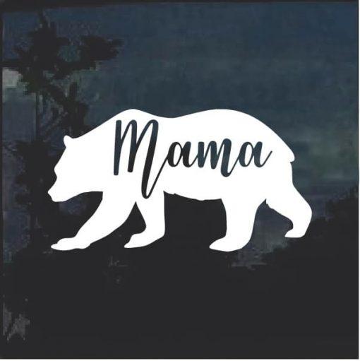 Mama Bear Car Window Decal Sticker