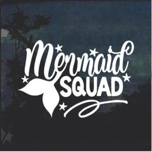 Mermaid Squad Window Decal Sticker