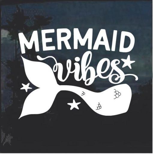 Mermaid Vibes Window Decal Sticker