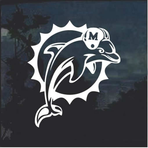 Miami Dolphins old logo decal sticker