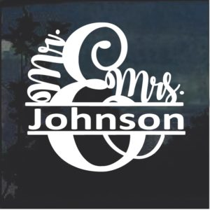 Mr and Mrs Custom Name Decal Sticker