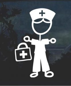 Nurse Nursing Male Sticker Figure Window Decal Sticker