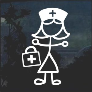 Nurse Nursing Sticker Figure Window Decal Sticker