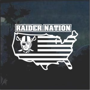 Oakland Raiders Raider Nation America Window Decal Sticker