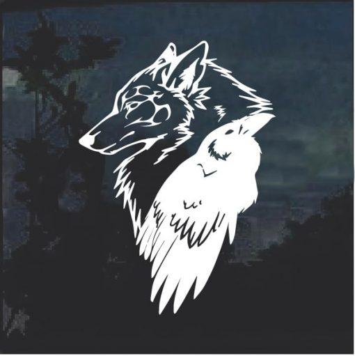 Odin Thor Raven Wolf Decal Sticker
