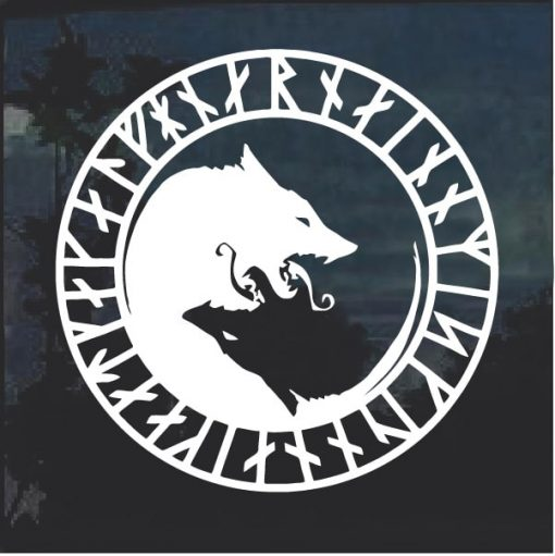 Odin Thor Viking Wolf Decal Sticker