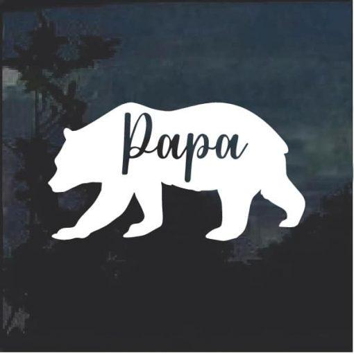 Papa Bear Car Window Decal Sticker