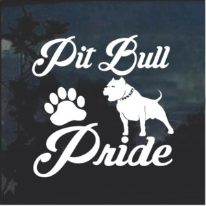 Pit Bull Pride Window Decal Sticker
