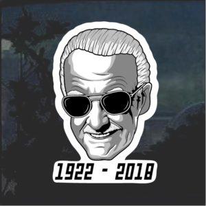 RIP Stan Lee Window Decal Sticker 1922 - 2018