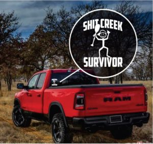 Shit Creek Survivor Window Decal Sticker