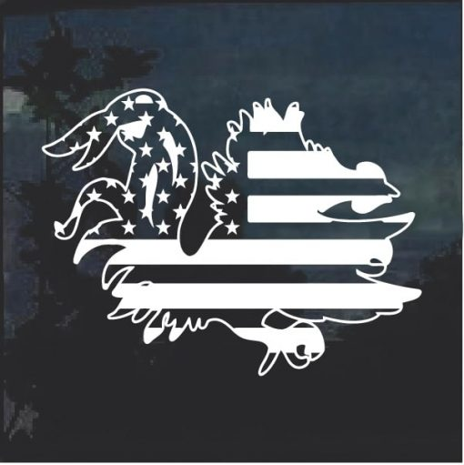 South Carolina Game Cock Weathered Flag Decal Sticker
