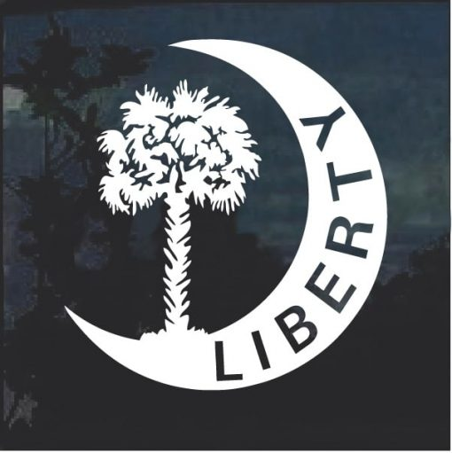 South Carolina Liberty Palm Tree Decal Sticker