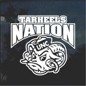 UNC Tarheels Nation Window Decal Sticker