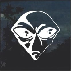 Alien Head Decal sticker a3