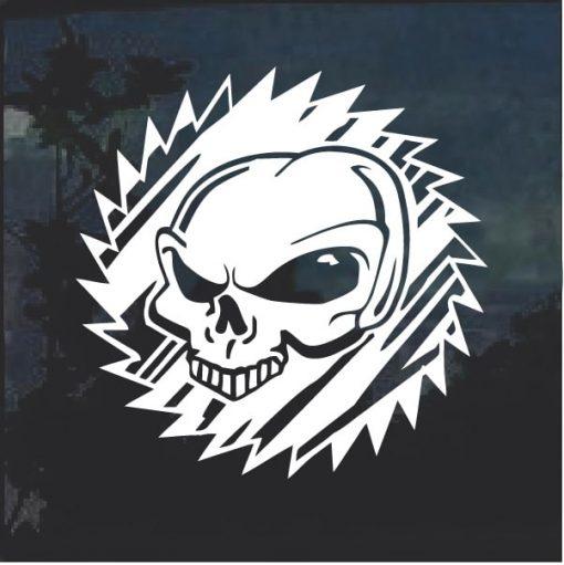 Alien Head Decal sticker a5