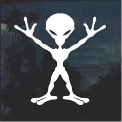 Alien body window decal sticker