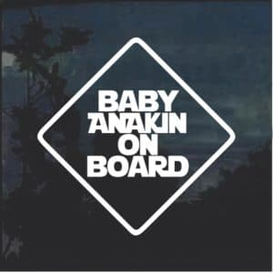 Baby Anakin On Board Window Decal Sticker