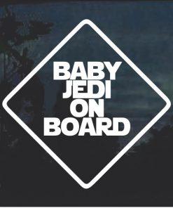 Baby Jedi On Board Window Decal Sticker