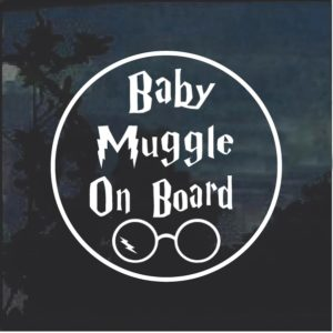 Baby Muggle On Bard Round Decal sticker