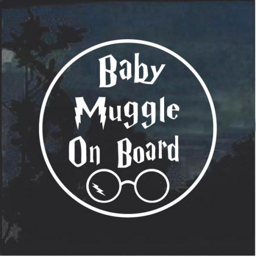 Baby Muggle On Bard Round Decal sticker