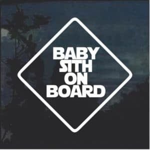 Baby Sith On Board Window Decal Sticker