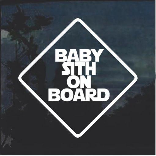 Baby Sith On Board Window Decal Sticker