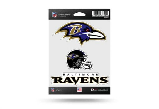 Baltimore Ravens Window Decal Sticker Set Officially Licensed NFL