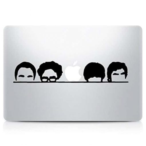 Big Bang Theory Silhouette Laptop Decal Sticker