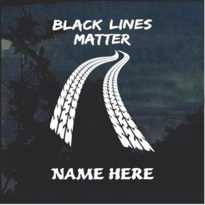 Black Lines Matter Racing Window Decal Sticker