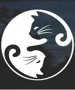 Cat Yin Yang Window Decal Sticker