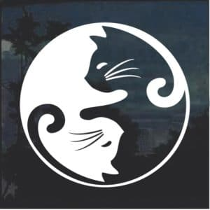 Cat Yin Yang Window Decal Sticker