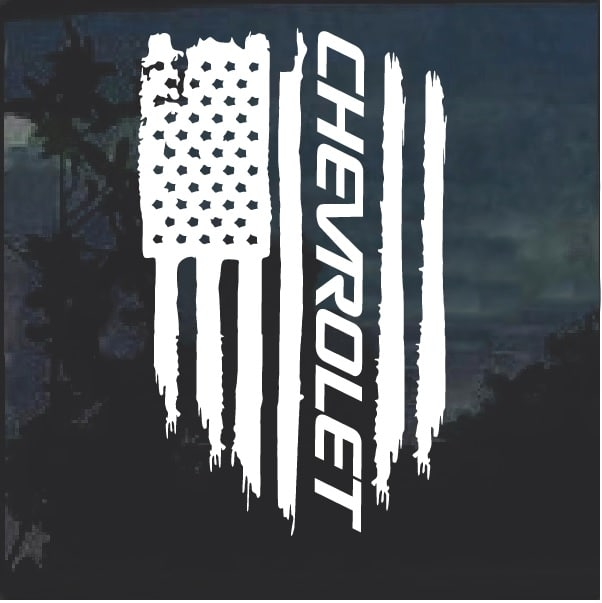 Truck Windshield Decals >> Chevy Chevrolet Weathered Flag Decal Sticker – Custom ...