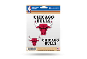 Chicago Bulls Window Decal Sticker Set NBA Officially Licensed