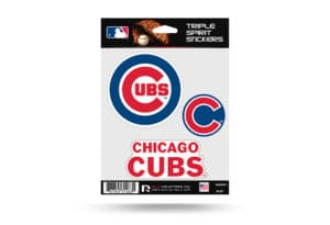 Chicago Cubs Window Decal Set Sticker Officially Licensed MLB