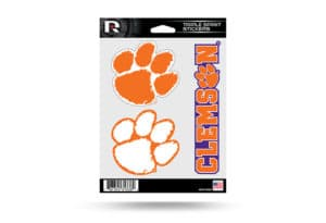 Clemson Tigers Window Decal Sticker Set Officially Licensed