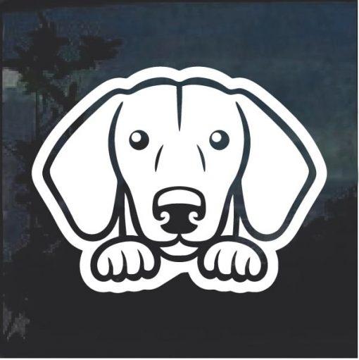 Dachshund Peeking Dog Window Decal Sticker