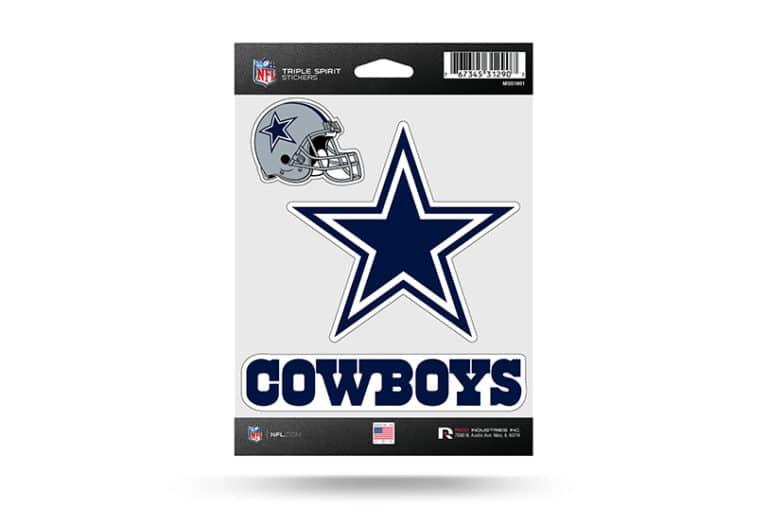 Nfl Football Dallas Cowboys Window Decal Sticker Set