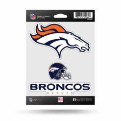 Denver Broncos Window Decal Sticker Set Officially Licensed NFL
