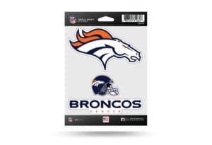 Denver Broncos Window Decal Sticker Set Officially Licensed NFL