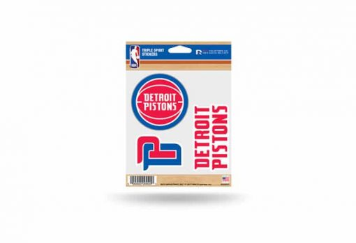 Detroit Pistons Window Decal Sticker Set NBA Officially Licensed