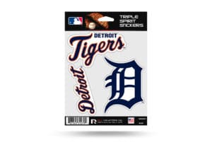 Detroit Tigers Window Decal Set Sticker Officially Licensed MLB